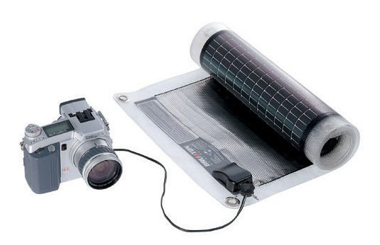 solar roll digital camera charger